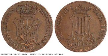 Dos fortos de la misma moneda: VI Cuartos 1836 1406