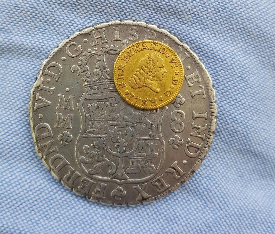 1/2 escudo 1753. Fernando VI. Sevilla 20160702_124109_1