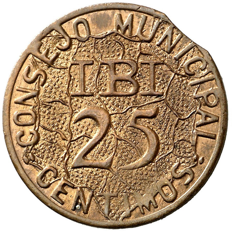 25 céntimos 1937 (Mapa al fondo). Consejo municipal Ibi. Guerra Civil Española. (II) 25_c_ntimos_de_Ibi_2