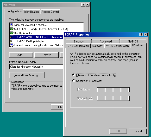 How to Network Windows 7 and Windows 98 Image2