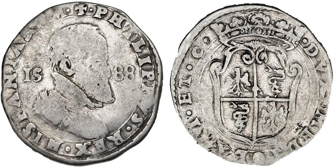 1/2 ducatón 1588 Milán, Felipe II Medo_ducaton_1588_g