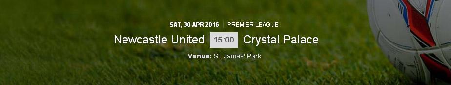 Newcastle United - Crystal Palace Newcastle