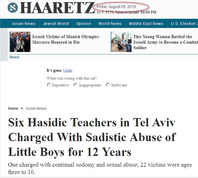 enfants juifs violés par Rabbins: peuple élu lol peuple de la merde Image
