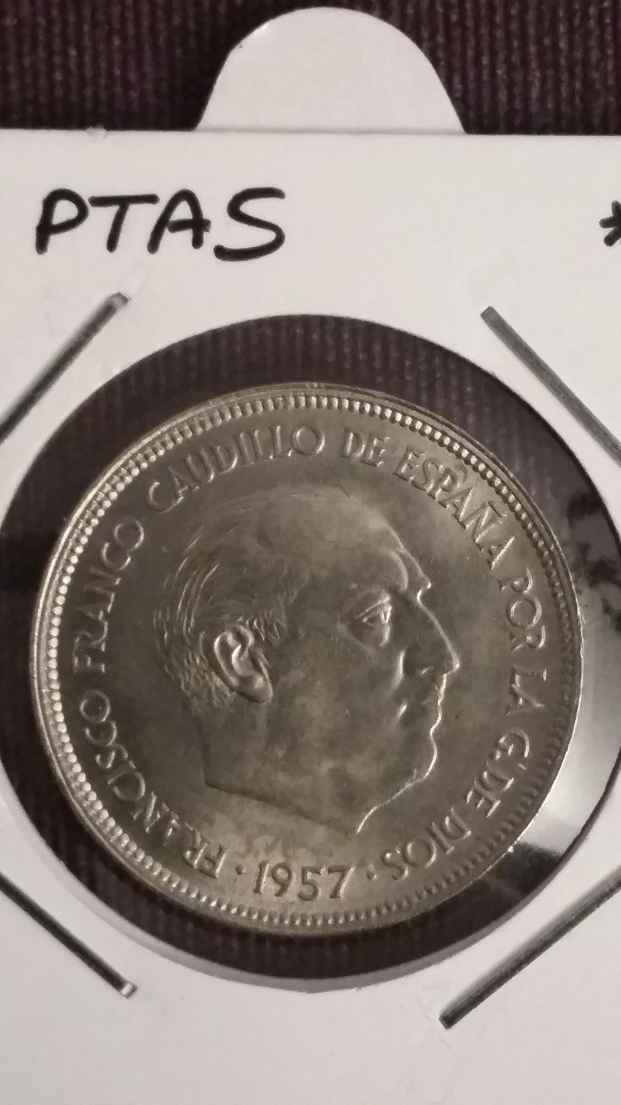 25 pesetas 1957 *58. Francisco Franco 20160507_210553