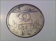 2 pesetas 1937. Consejo Asturias y León. Guerra Civil IMG_1575