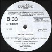 Vesna Zmijanac - Diskografija  Vesna_Zmijanac_1992_s_B