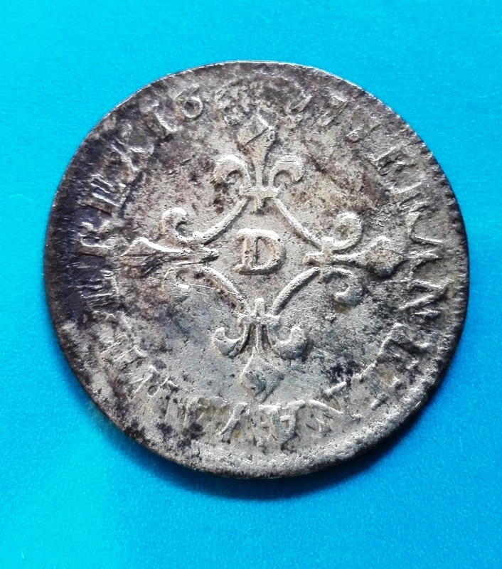 4 sols luis XIV 1677, Lyon 4_sols_luis_XIV_3