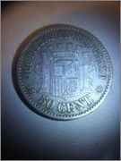 50 céntimos 1870 (7-0). SNM. Gobierno Provisional Image