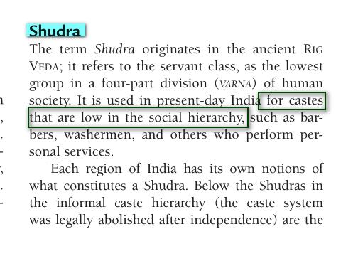 système de caste Racisme:Shudra Aaaa