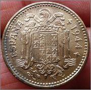 1 peseta 1944. Francisco Franco 1_peseta_1944_Franco_2