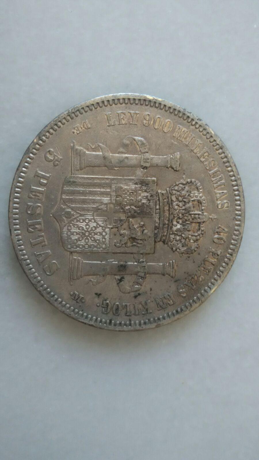 5 pesetas 1871. DEM. Amadeo I IMG_20160502_WA0035