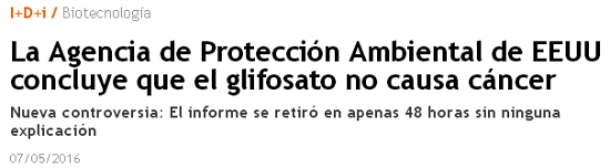 GLIFOSATO PROHIBIRLO Glifosato_epa