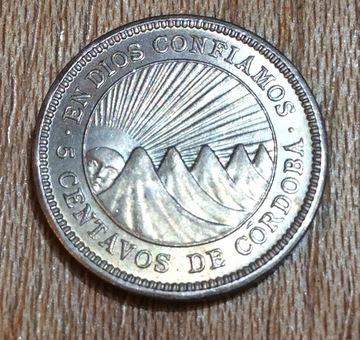 Nicaragua 5 centavos  1954  Image