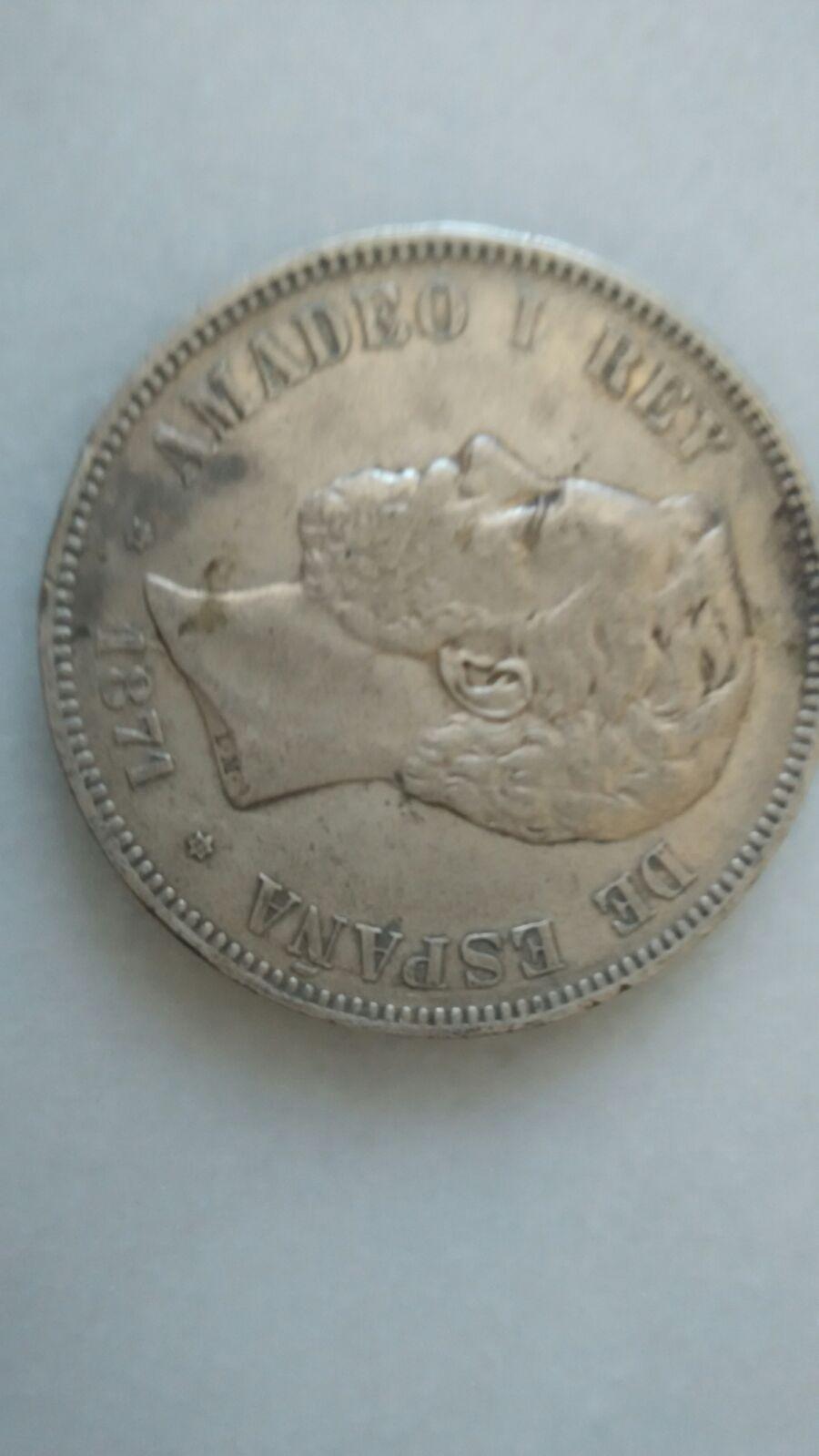 5 pesetas 1871. DEM. Amadeo I IMG_20160502_WA0038