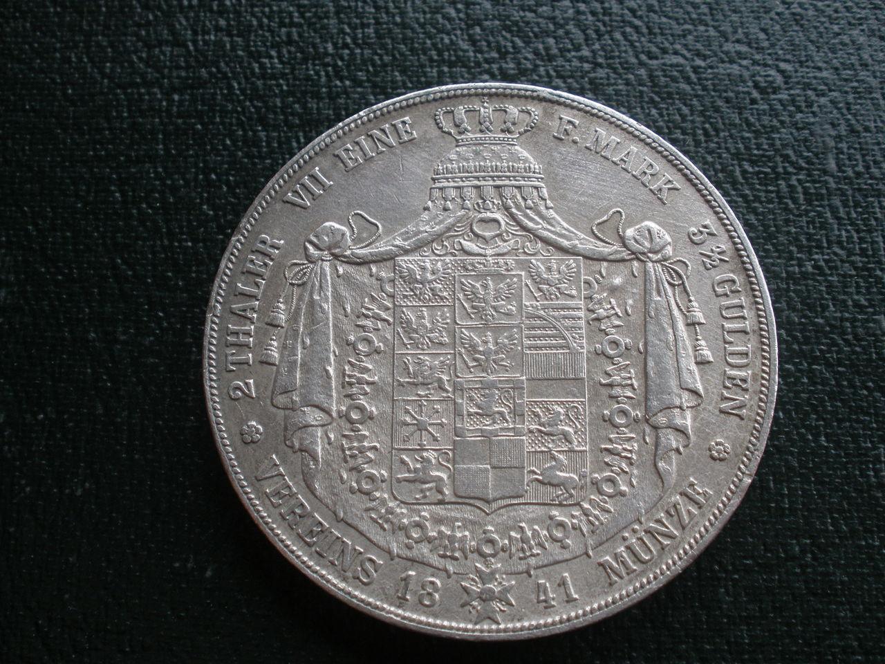 Doble táler 1872 Sachsen P1010217