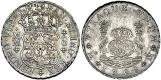 8 reales columnario 1758. Fernando VI. Méjico 8_Reales_1758_Mexico_MM_Ligera_patina_EBC