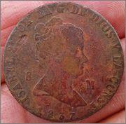 8 maravedis Isabel II 1837 Jubia 8_maravedis_1837_Isabel_II_1