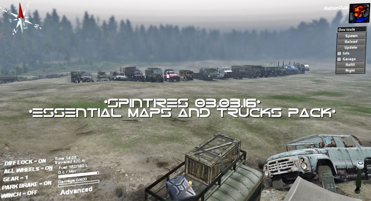 Spintires 03.03.16 Essential Maps And Trucks Pack Pack