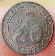 1 céntimo 1870. Gobierno Provisional 1_centimo_Gobierno_Provisional_1870_1