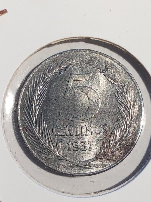 Guerra civil: 5 y 50 cts República 1937 y 25 cts Gobierno de Burgos 2_R5cts37rev