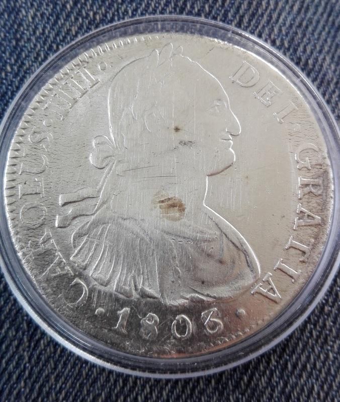 8 reales 1803. Carlos IV. México Anverso