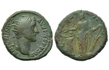 Dupondio de Antonino Pio. COS II-II - S C. Salus o Fortuna. Ceca Roma. Image