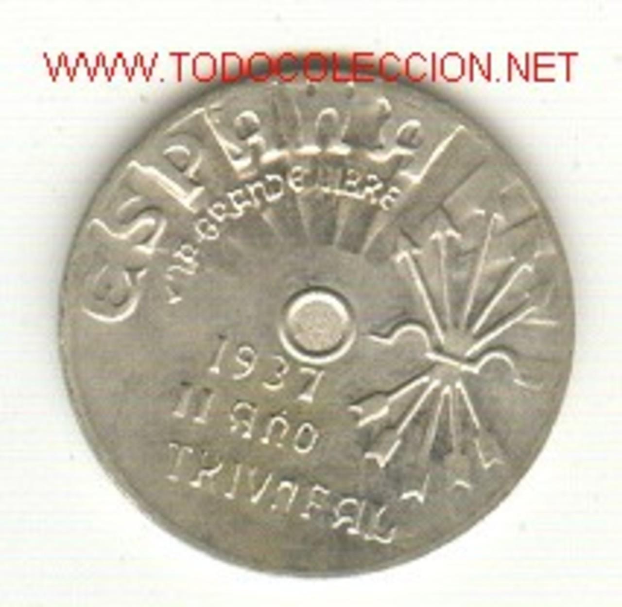 Duro de Carlos IV con reverso de 5 francos franceses Fantasia_r