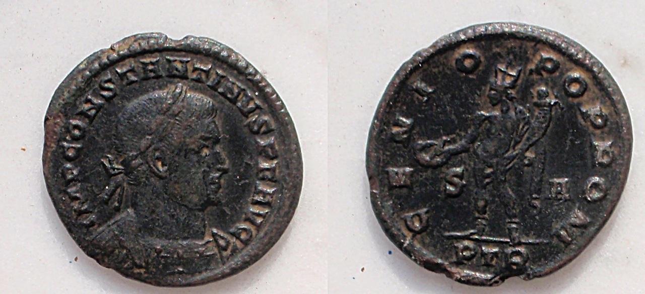 Nummus de Constantino I como augusto Constantino_i