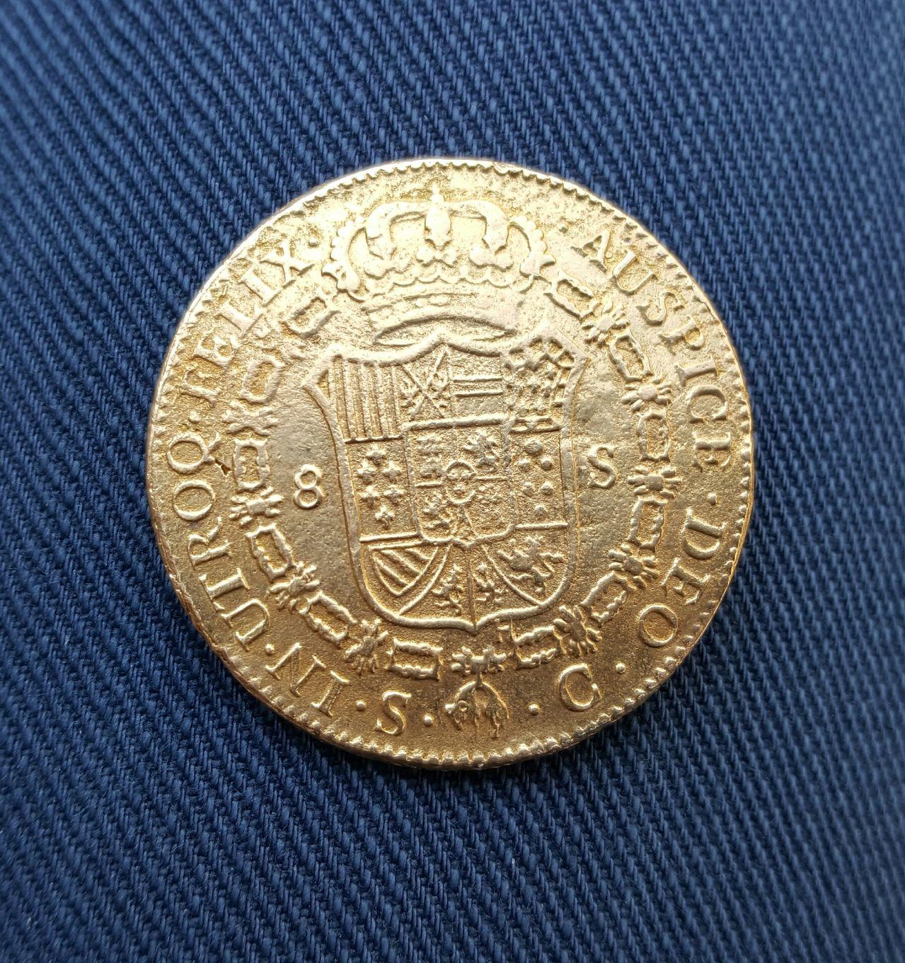8 escudos 1788. Carlos III. Sevilla 20160517_194301_1