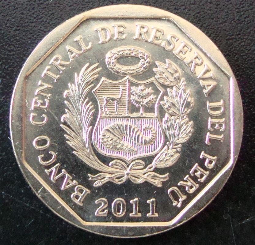 1 Nuevo Sol. Perú (2011) Machu Picchu PER_1_Nuevo_Sol_Machu_Picchu_anv