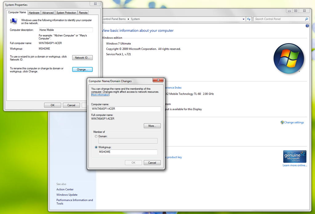 How to Network Windows 7 and Windows 98 Image