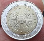 1 Peso Argentina 2013 - Bicentenario 1813 - 2013 1_Peso_Argentina_2013_Bicentenario_183_2013