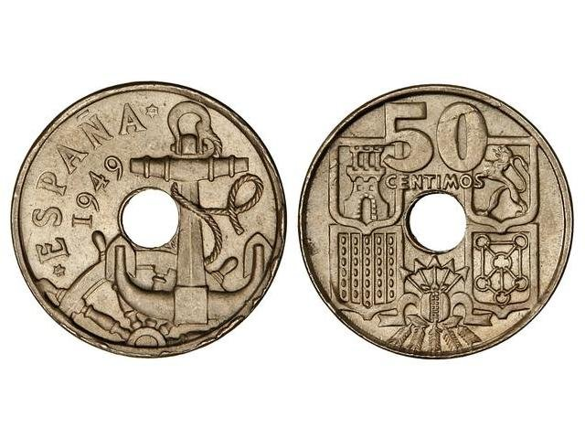 50 céntimos 1949 (*19-53) Estado Español Image