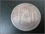 monedas de 5 pesetas 1889 PG M Monedas_006