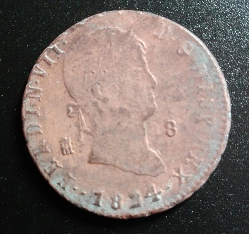 8 maravedís 1824. Fernando VII. Segovia IMG_20160705_185604