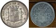 1 peseta 1869 reverso girado. ¿Esto puede ser o me han tangado? Comparacion_3
