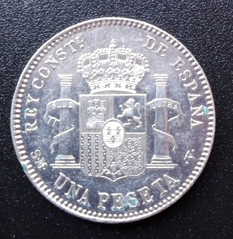 1 peseta 1900 (*19-00). Alfonso XIII Reverso