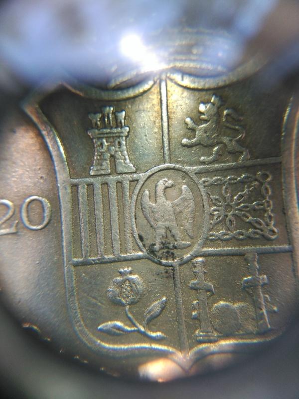 20 reales de Jose Napoleón año 1809 de Madrid  IMG_20160618_135943