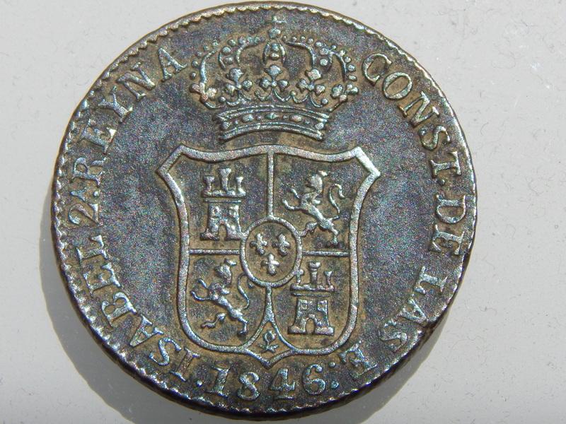 3 cuartos 1846. Isabel II. Cataluña RSCN2122