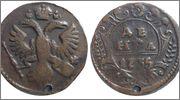 RUSIA - Denga (½ Kopek) 1735 Rusia_Denga_Kopek_1735