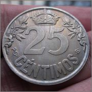 25 céntimos  1925. Alfonso XIII  Image