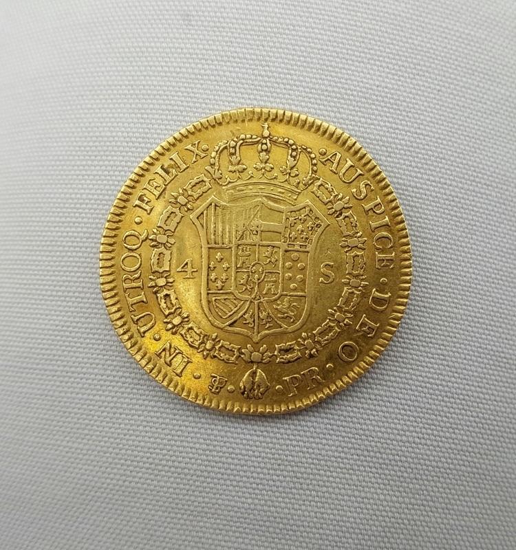 4 escudos 1793. Carlos IV. Potosí 20160627_213915_1