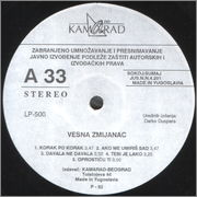 Vesna Zmijanac - Diskografija  Vesna_Zmijanac_1992_s_A