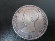 monedas de 5 pesetas 1889 PG M Monedas_003