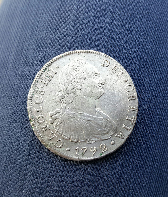 8 reales 1792. Carlos IV. Lima 20160517_173447_1
