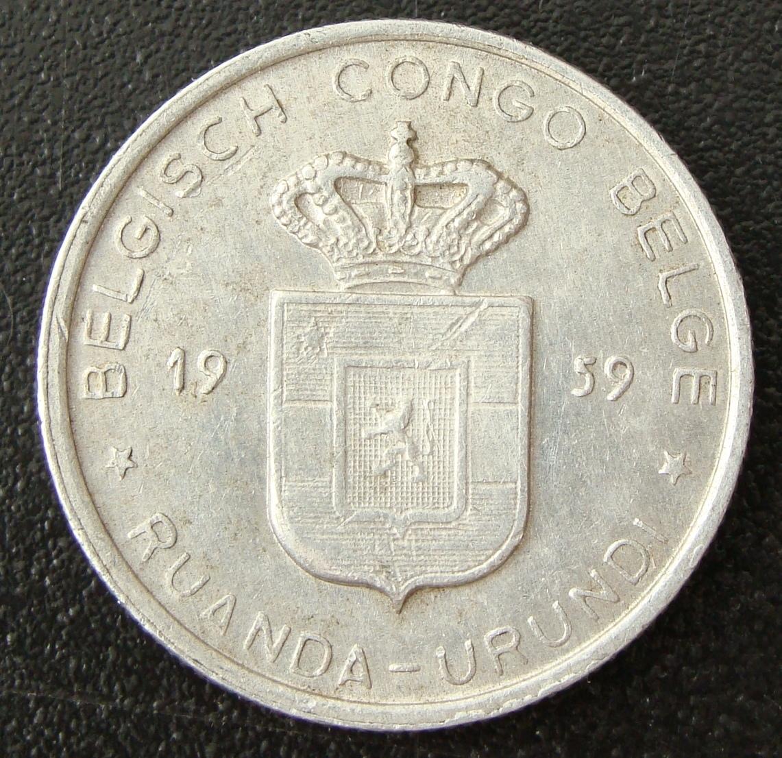 1 Franco. Congo belga (1959) RDC_1_Franco_1959_anv