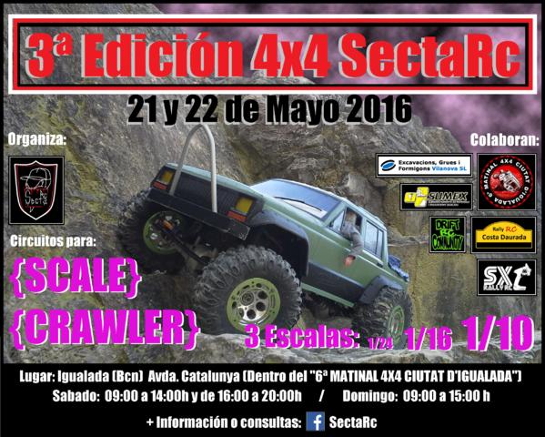 3ª Edición 4x4 SectaRc  CARTEL_MATINAL_SECTARC