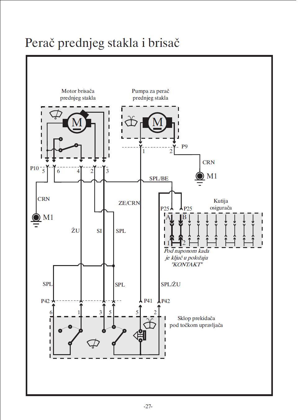 Tajmer za motor brisaca Brisaci