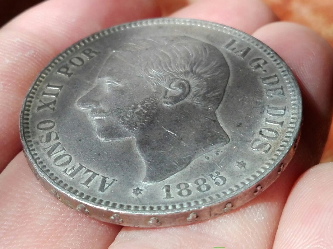 5 pesetas 1885*87. Alfonso XII IMG_20160805_144502