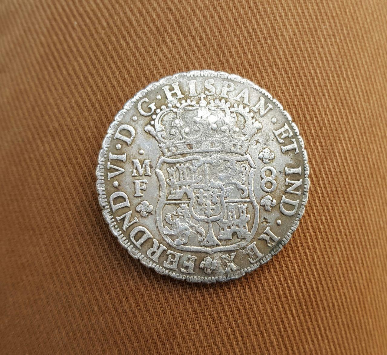 8 reales 1754. Fernando VI. Méjico. Resellos asiáticos 20160516_181354_1